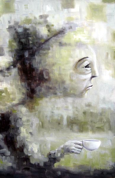 an early start, acrylic on canvas, 24x36