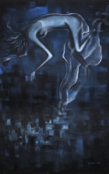 mariana, acrylic on canvas, 48x72