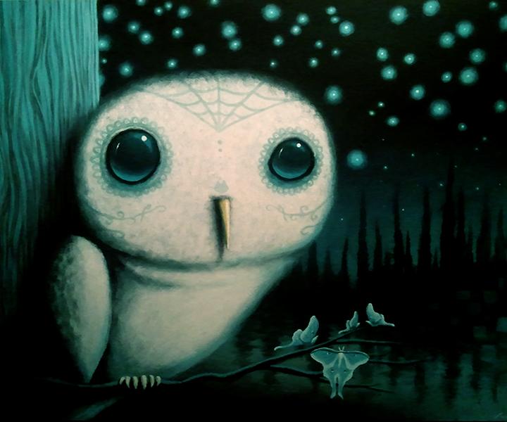 night owl, mixed media on wood panel, 24x30.jpg