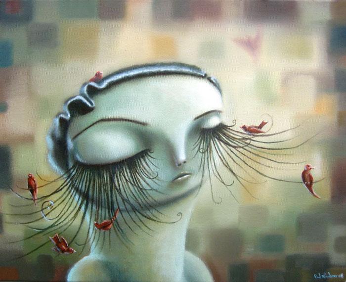 oi lashies, oil on canvas, 20x16.jpg