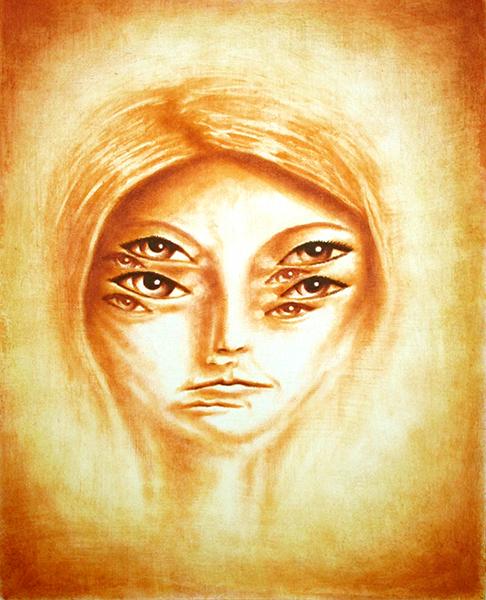 myriad II, mixed media on paper, 20x16