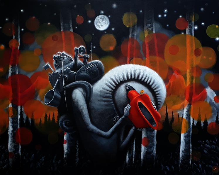 Retro Future, acrylic on canvas, 48x60  $2500