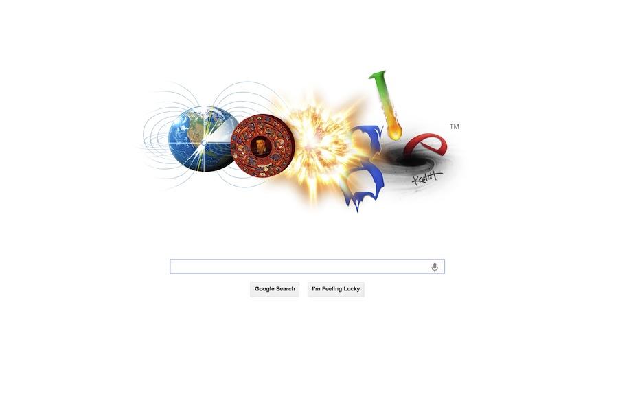 Mayan apocalypse Google doodle