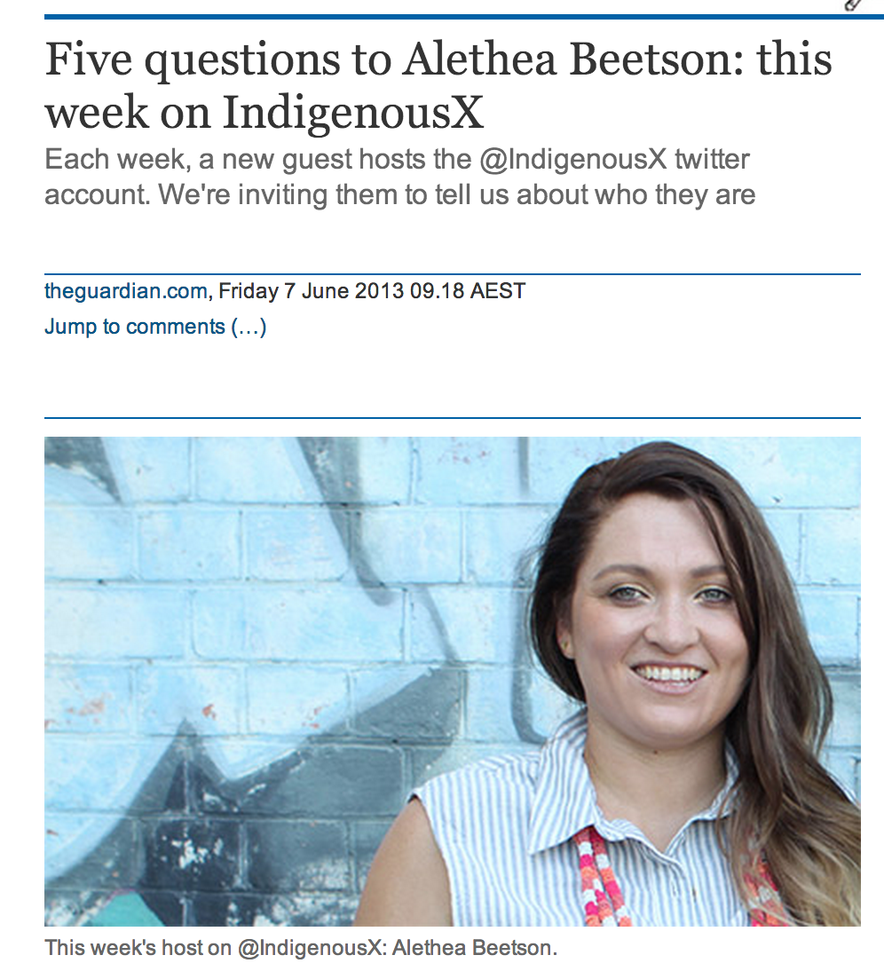 The Guardian - Alethea Beetson