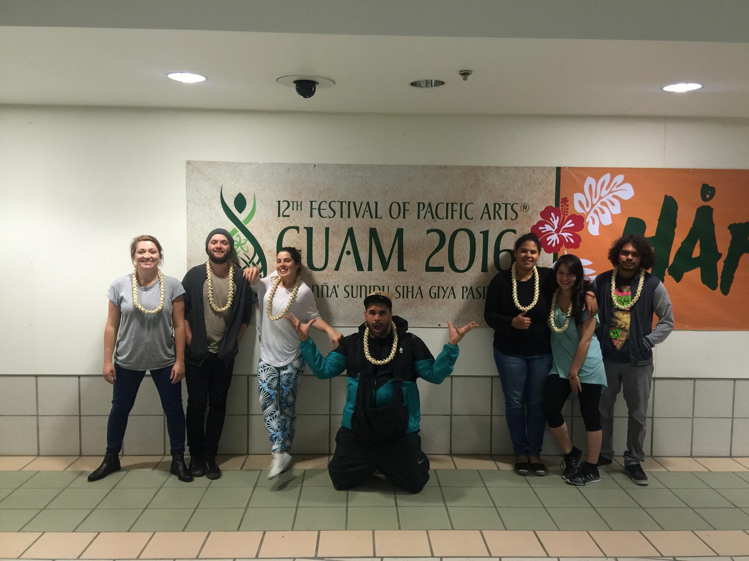 Australian delegates: Alethea, Eliah, Georgia, James, Taneale, Chantelle & Lenny.
