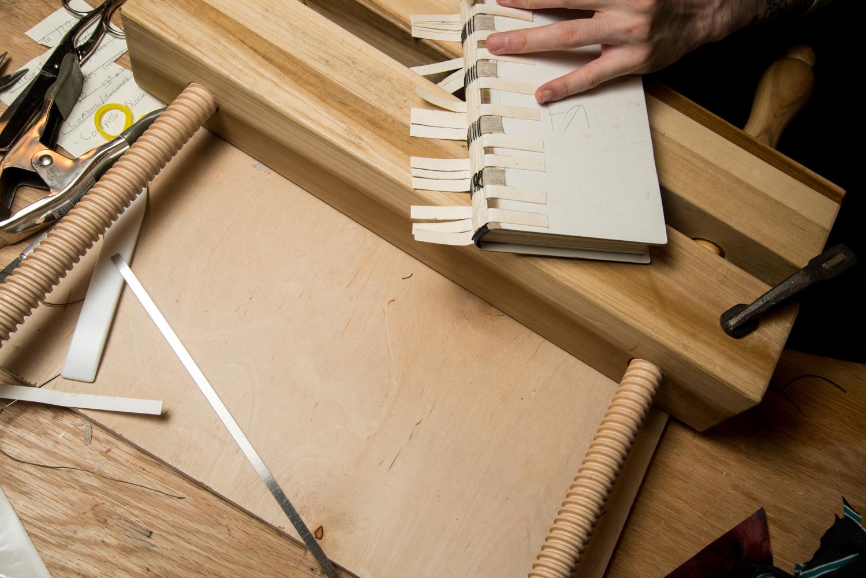 K-118 Style binding in progress