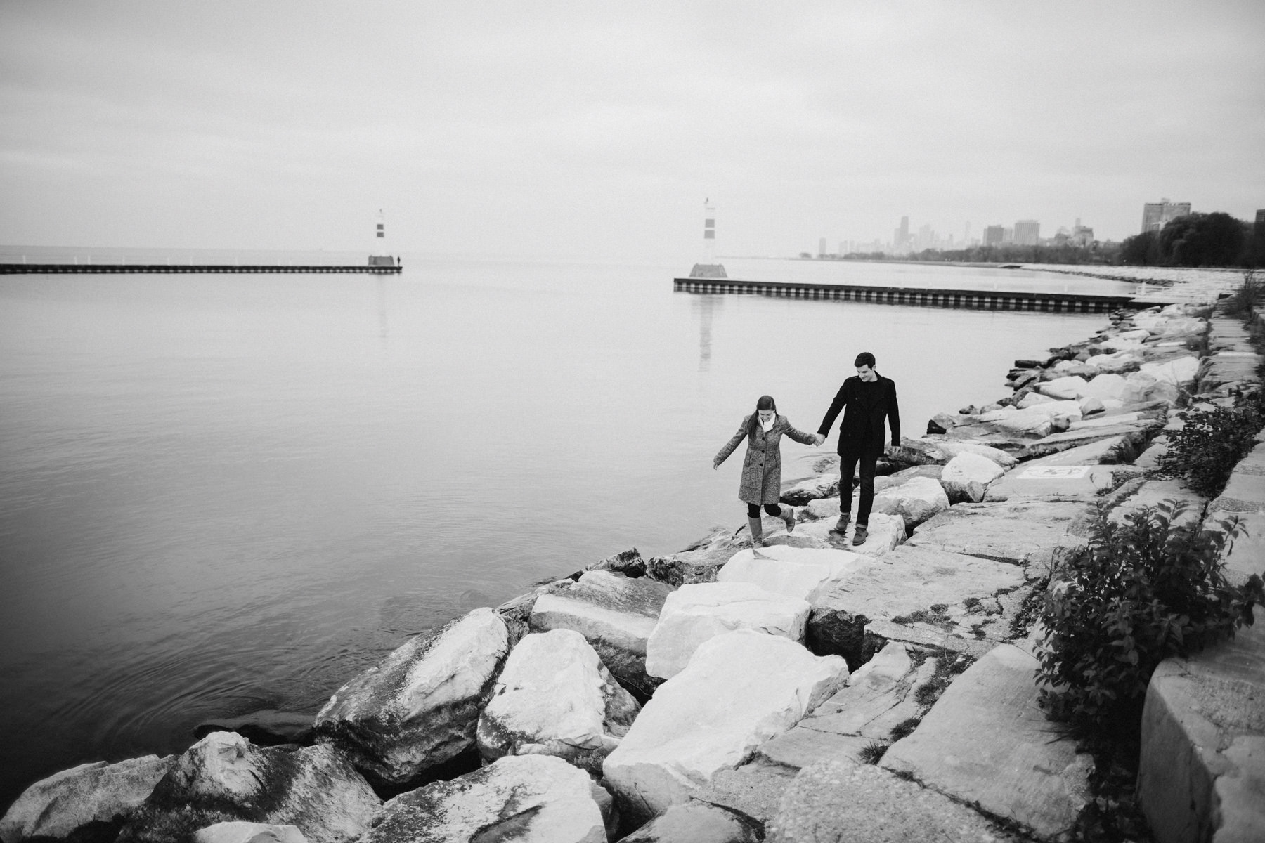 156_Montrose Beach Skyline Engagement Session Chicago, Illinois_Kindling Wedding Photography.JPG