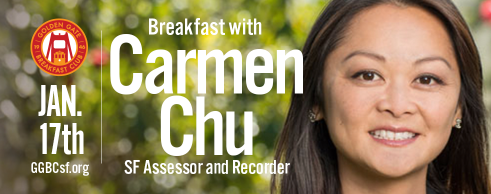 1/17/18 - Carmen Chu is a leader in San Francisco who cares about our City's core value of inclusion. As the daughter of small business owners, she was raised to believe that good government should serve everyone. During her years on the Board of Supervisors and now as our elected Assessor, Carmen drives her team to innovate beyond business as usual to better serve the public. She leads a department that generates $2.6B in revenue to keep core City services running.