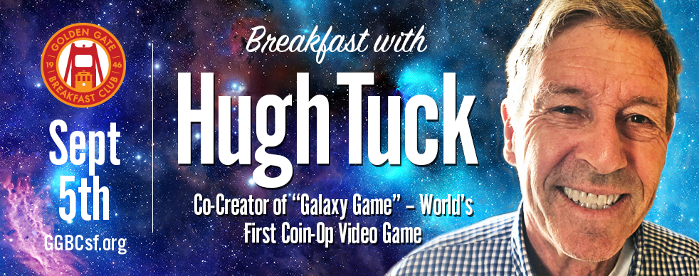 """Before OCCULUS Rift, XBOX, Playstation, NINTENDO, and ATARI, there was """"Galaxy Game"""", co-created by Hugh Tuck and his friend Bill Pitts at Stanford Artifical Intelligence Lab. Come hear Hugh's terrific story about the making of this wonderful piece of computer science and Pop Culture history. Open to all ages."""