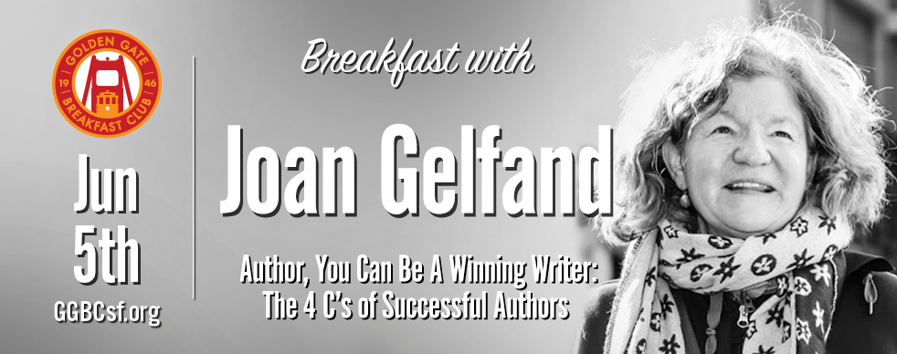 An Amazon #1 Best Seller, Joan Gelfand's  book teaches writers how to avoid the pitfalls of many beginning writers. The talk is guided by a 10 page power point presentation.  Joan Gelfand, author of three collections of poetry, an award-winning chapbook of short fiction and a novel set in Silicon Valley, is a writing coach living in San Francisco. Her work has appeared in over a hundred national and international literary journals and magazines. A short film based on one of her poems has appeared in nine international film festivals including Cannes, Rome and the Hollywood Film Festival.