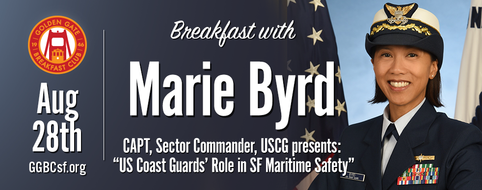 Captain Byrd assumed command of U.S. Coast Guard Sector San Francisco in March 2019 and serves as the Sector Commander and Captain of the Port for San Francisco and Northern California. As such, she leads over 850 Active and Reserve Coast Guardsmen operating four Cutters, seven Search and Rescue Stations, an Aids to Navigation Team, a Vessel Traffic Service, and a Marine Safety Detachment. She is also responsible for 1100+ Coast Guard Auxiliarists. Her area of responsibility spans from the Oregon border to the San Luis Obispo County line as well as much of Nevada, Utah, and parts of Wyoming, and includes over 2,500 miles of shoreline within the San Francisco Bay and its tributaries.