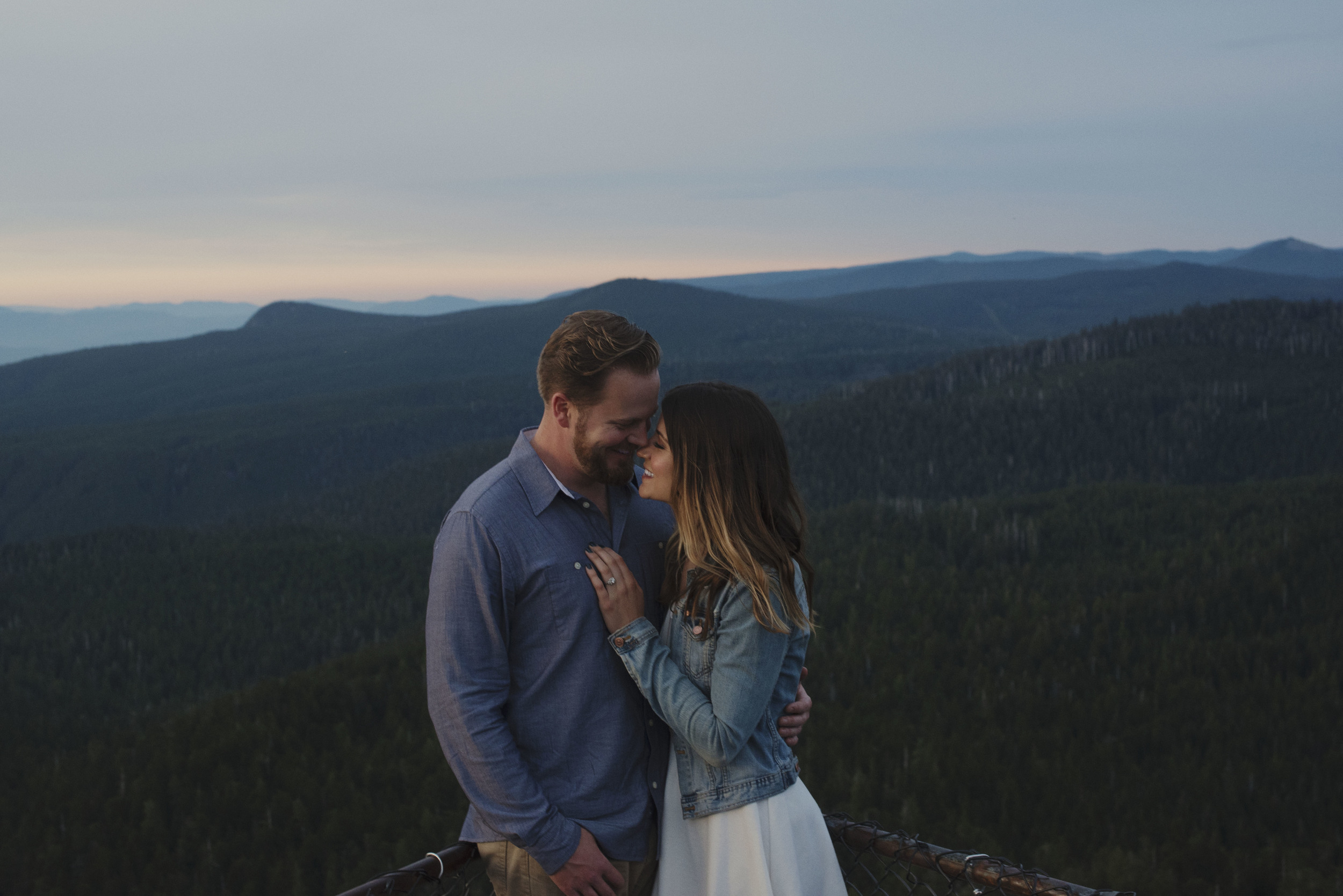 Alex & Taylor Larch Mountain Engagement
