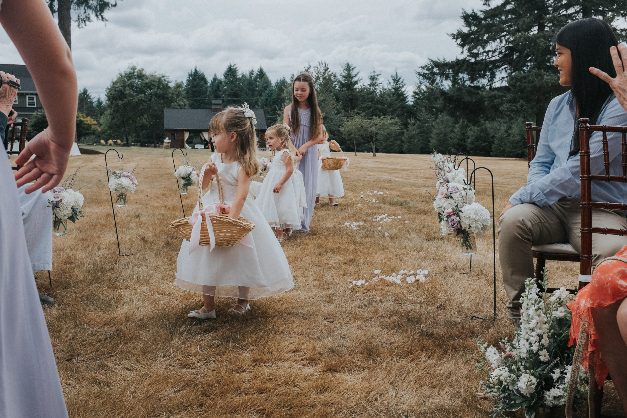 Andrew & Selah's Backyard Columbia River Gorge Wedding