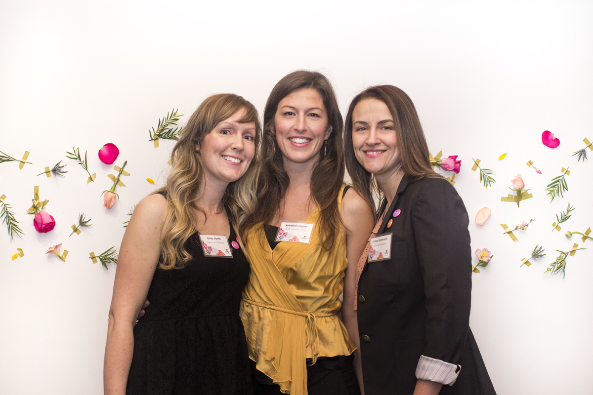 Emily Hastie of Collect & Cultivate, Rebekah Logan of Clark's Audio Visual and Khara Robertson of Showkraft Events