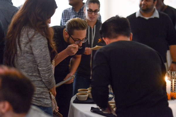 coffee cupping with Counter Culture Coffee