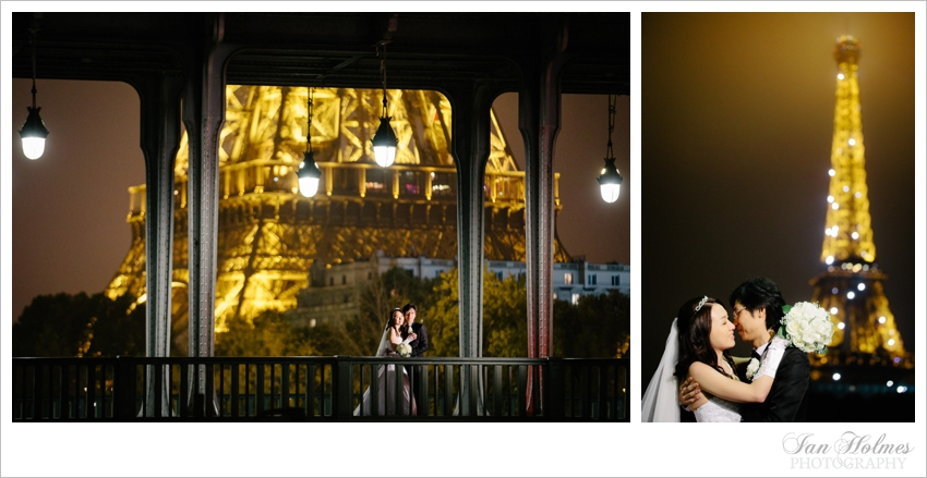 e lopement, Paris, France, Eiffel Tower, romance, kiss