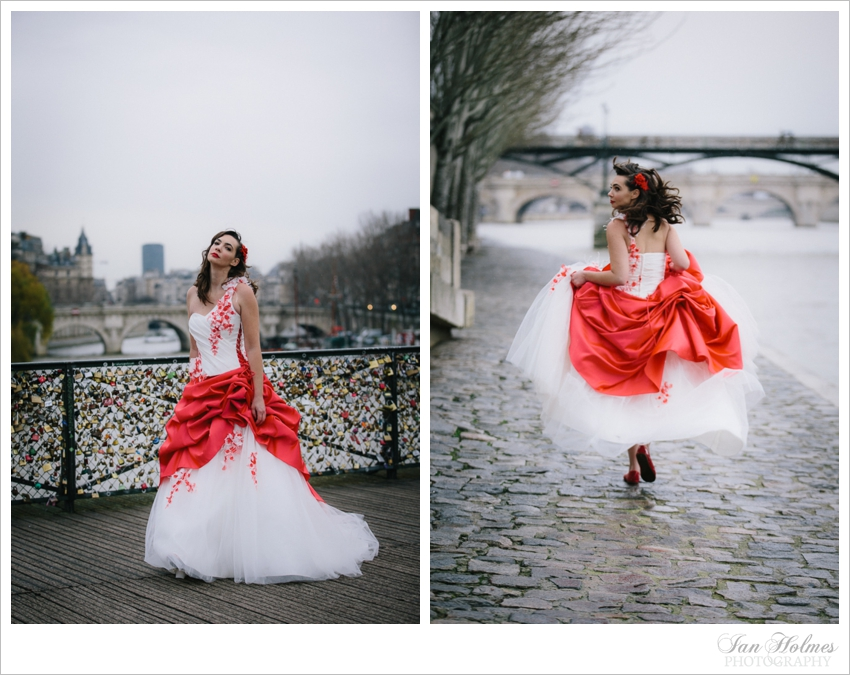 gown on the quayside