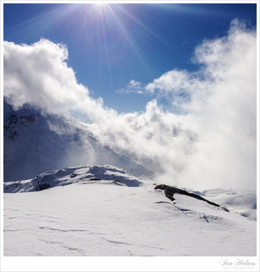 sunny day in the alps