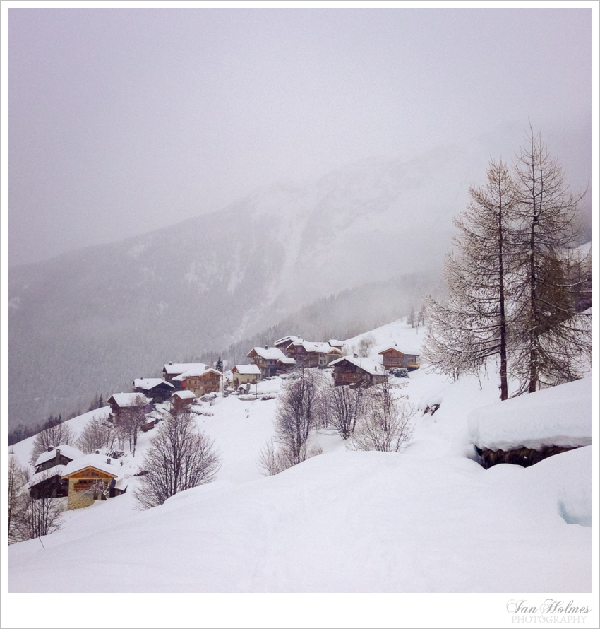 mountain hamlet in the alps