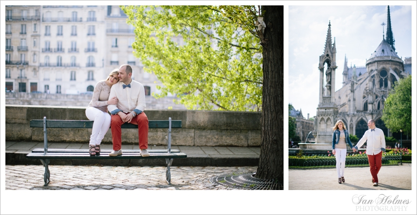 couple on bench at notre dame