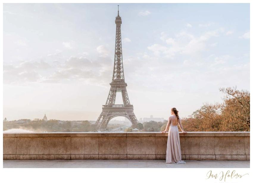 designer dress eiffel tower
