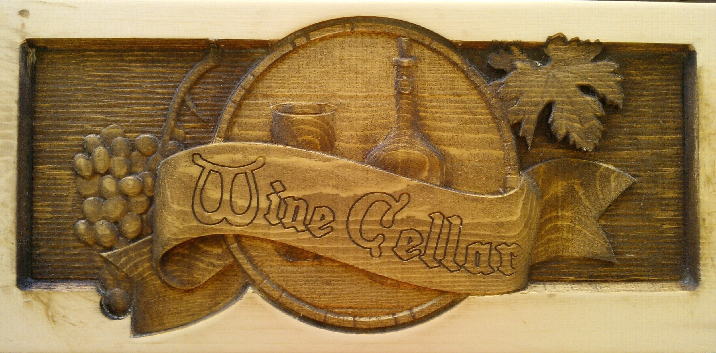Thanks, Weekend CNC Warrior,  Carl Hird-Rutter  for this shot!  We wish our wine cellar had a sign like this!!!