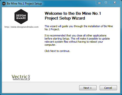 Installer for the  Be Mine No.1  project.