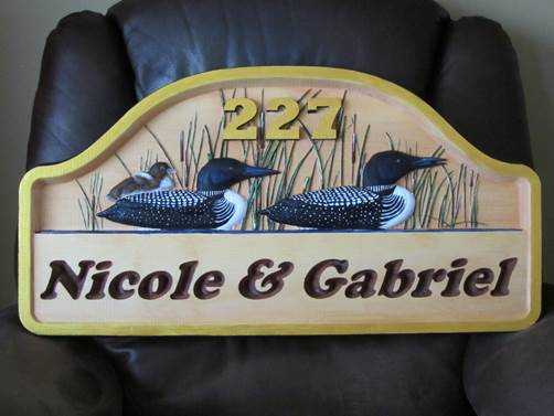 Thanks   Rénald Delisle for sending in this great pic of his finished sign!