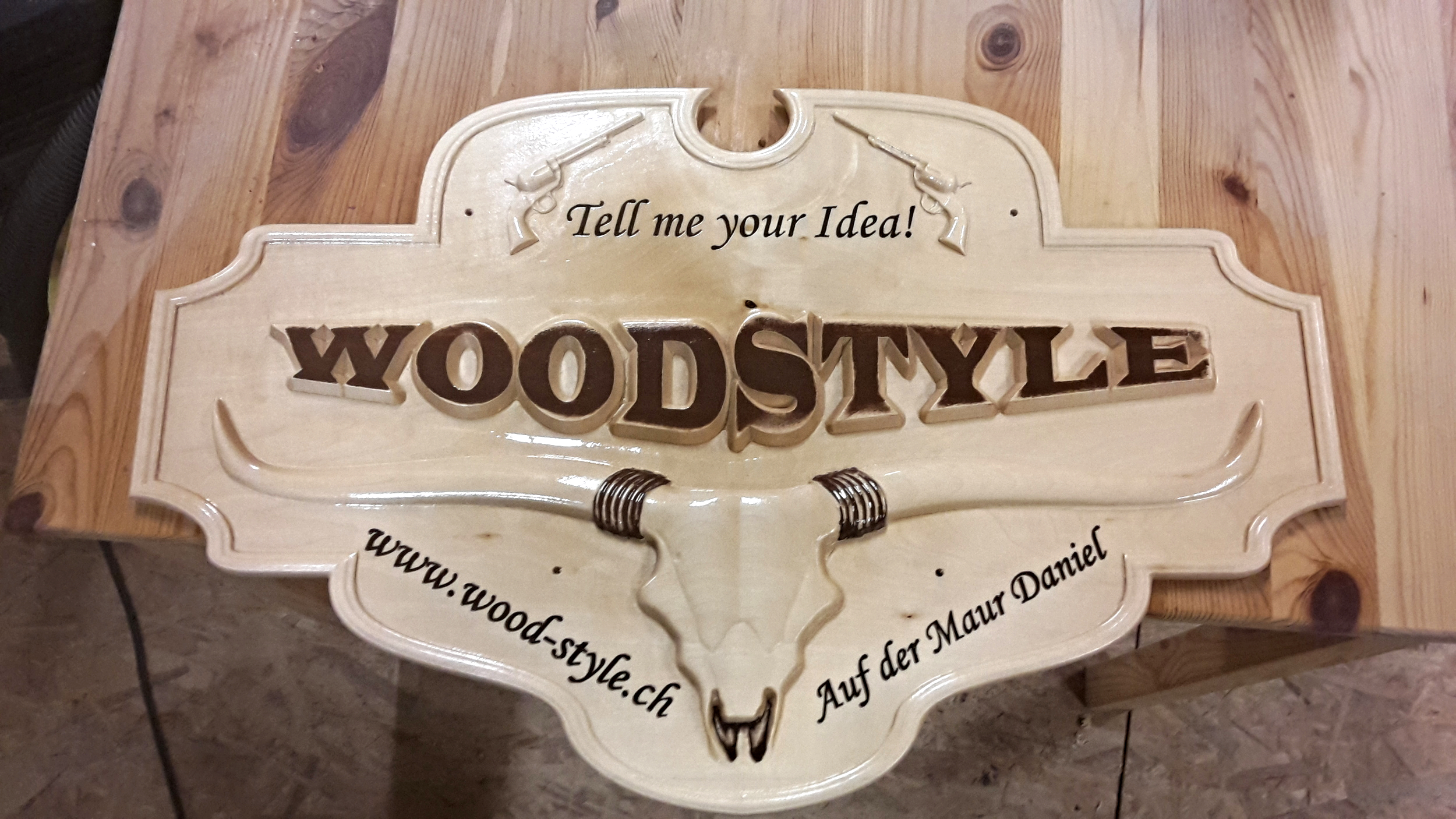 Daniel used the Western Saloon No.1 project to create this saloon sign!
