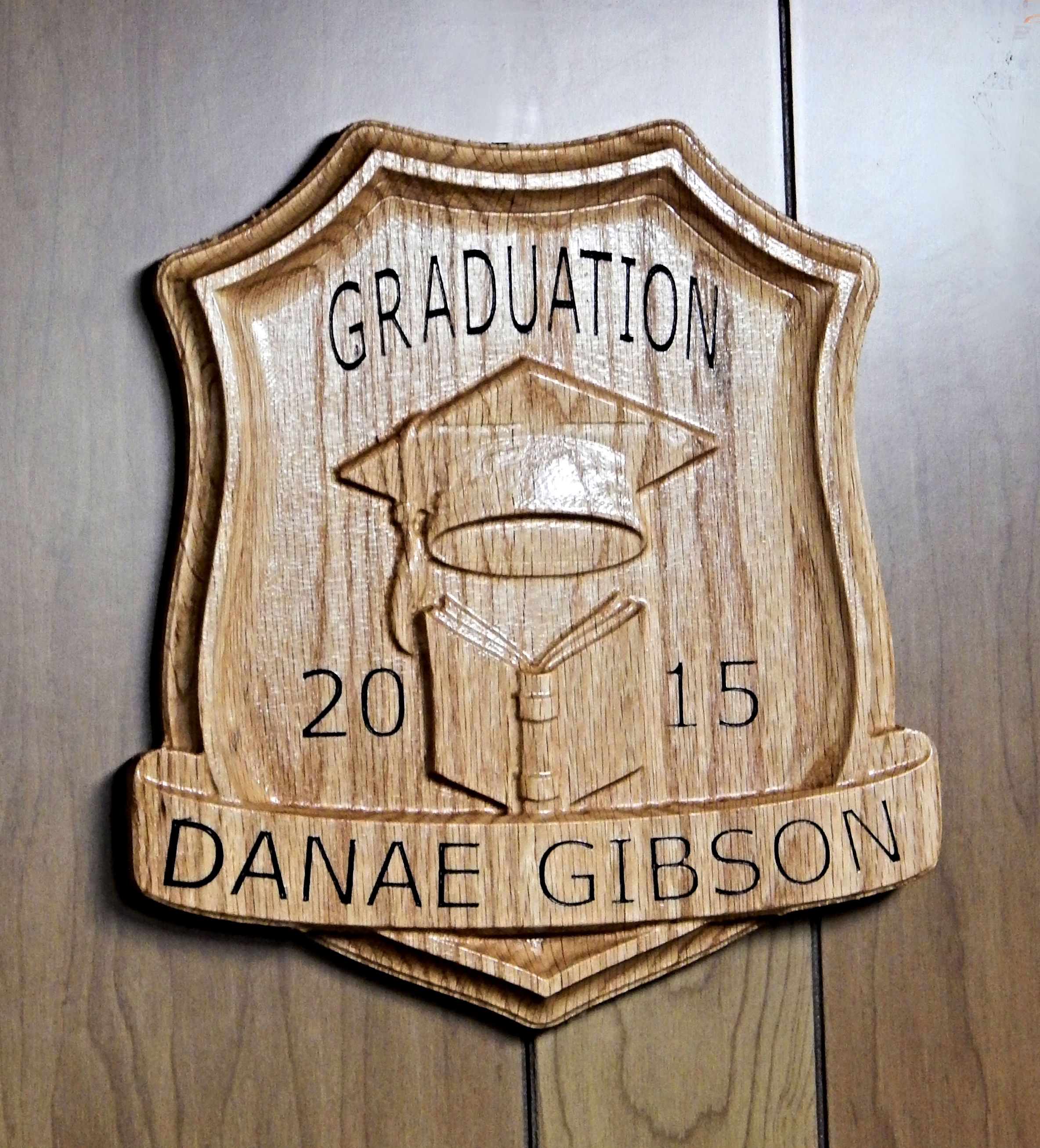 Tony used the  Graduation Day No.1 CNC project for his finished piece!