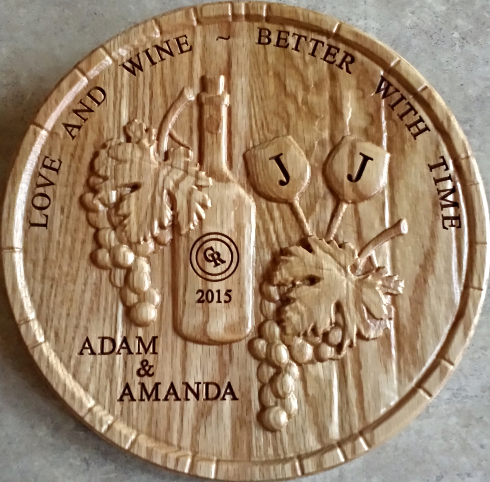 Dave Haskin  sent in this great finished image of a wedding gift he made!