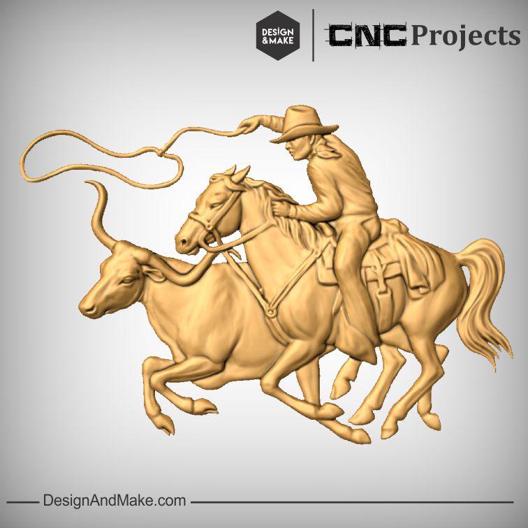 Cowboy Lassoing Bull.jpg