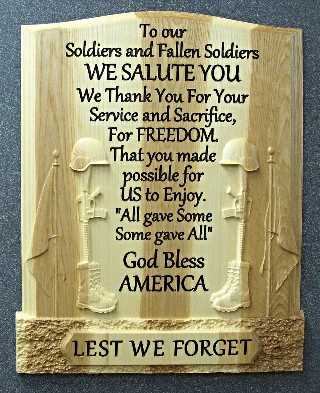 Memorial Day Plaque