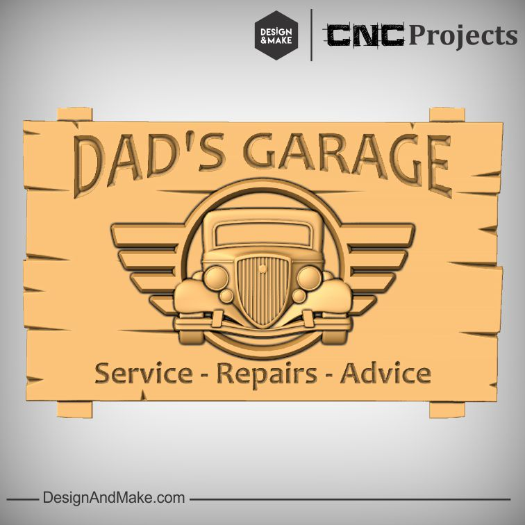 Dad's Garage - Service, Repairs, Advice Sign