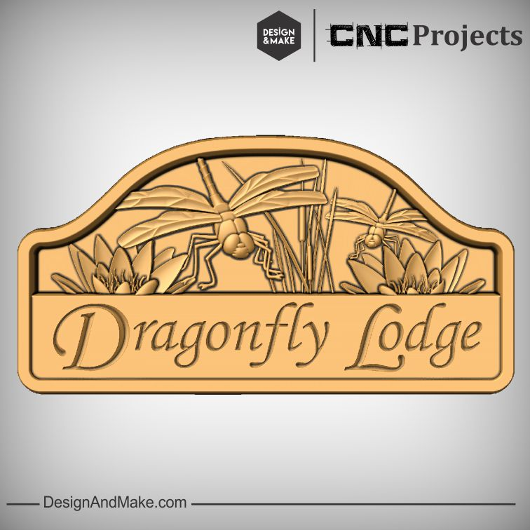 Dragonfly Lodge - CNC Cottage Sign