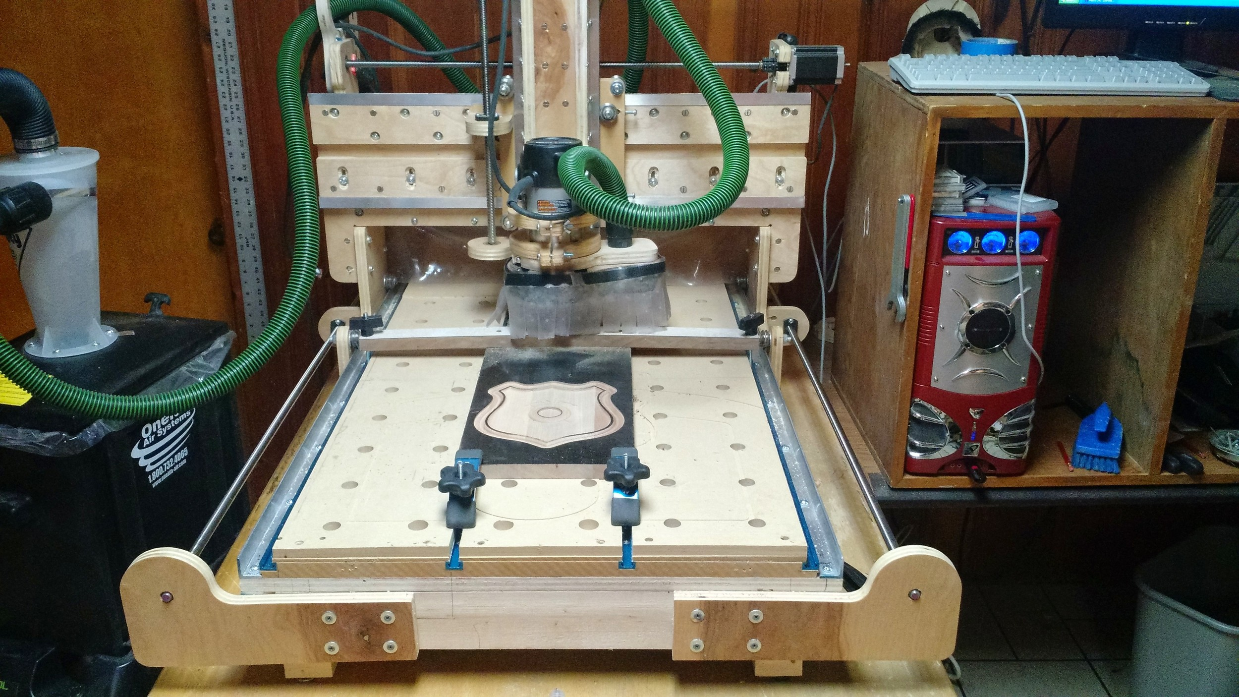 Ted's Home Built CNC Machine