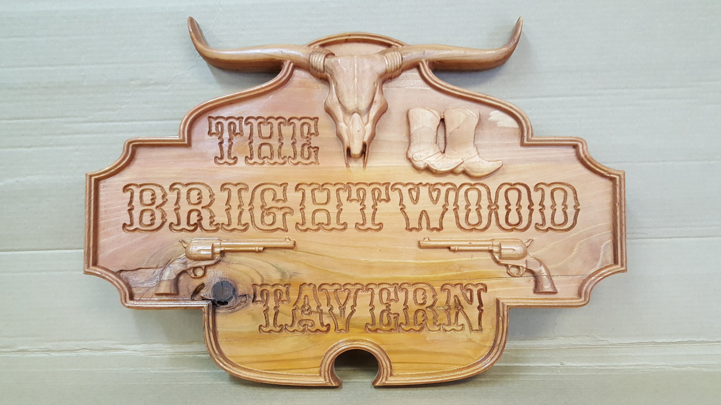 The Brightwood Tavern Sign