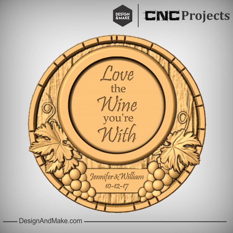 """Love the Wine you're With"" Wine Bottle Coaster"