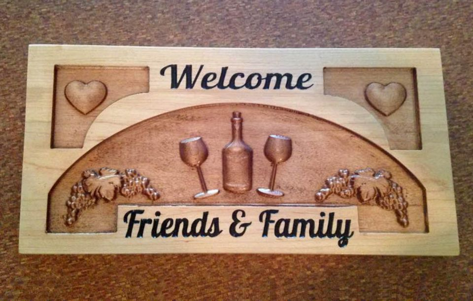 """Welcome Family & Friends"""