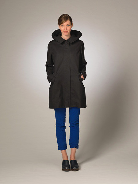 Made in Portland, OR using Schoeller material - Hillary Day raincoats.