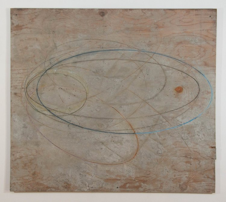 Red Knot , 2017. Plywood, cement, oil paint: 48 x 54  in.