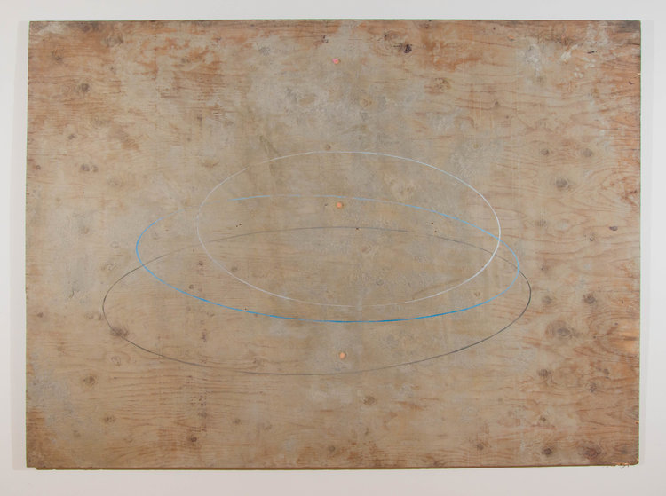Pink Knots , 2016. Plywood, cement, oil paint: 48 x 66in.