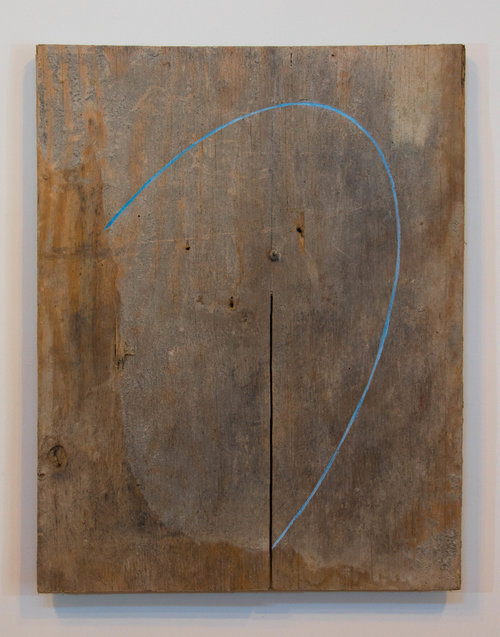 Moon Arc , 2016. Plywood, oil paint: 28 x 22 in.