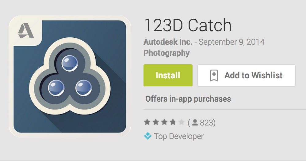 Rejoice! 123D Catch Now Available on Android