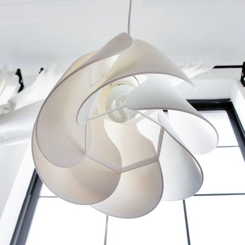 Anna Flower 3D printed lampshade - unlit