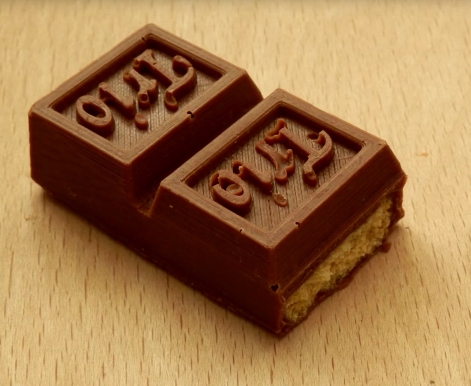 The recreated Trio chocolate bar. And apparently it tastes very good!