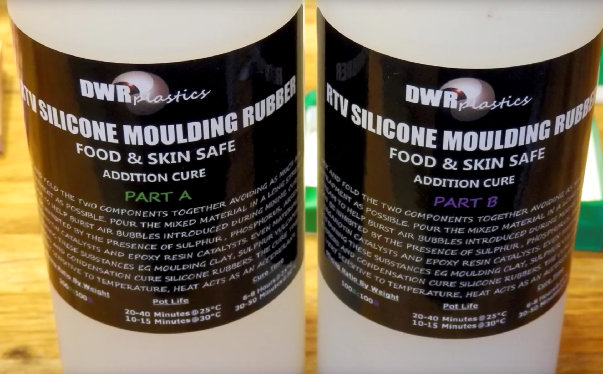 Food safe silicone moulding compound used in the experiment
