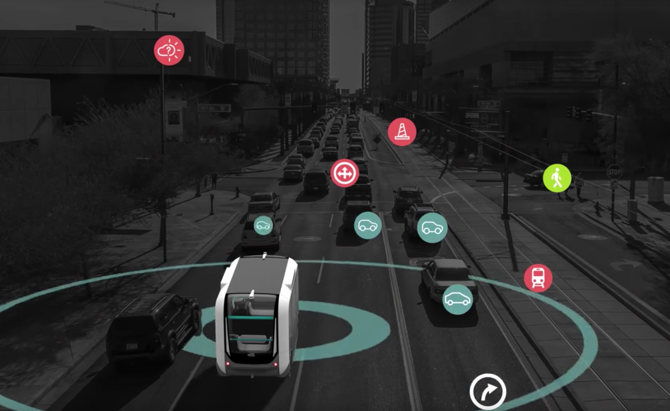 Olli's concept for self-driving sensors