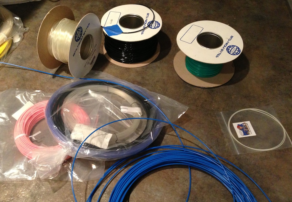 Some different kinds of 3D printer filament