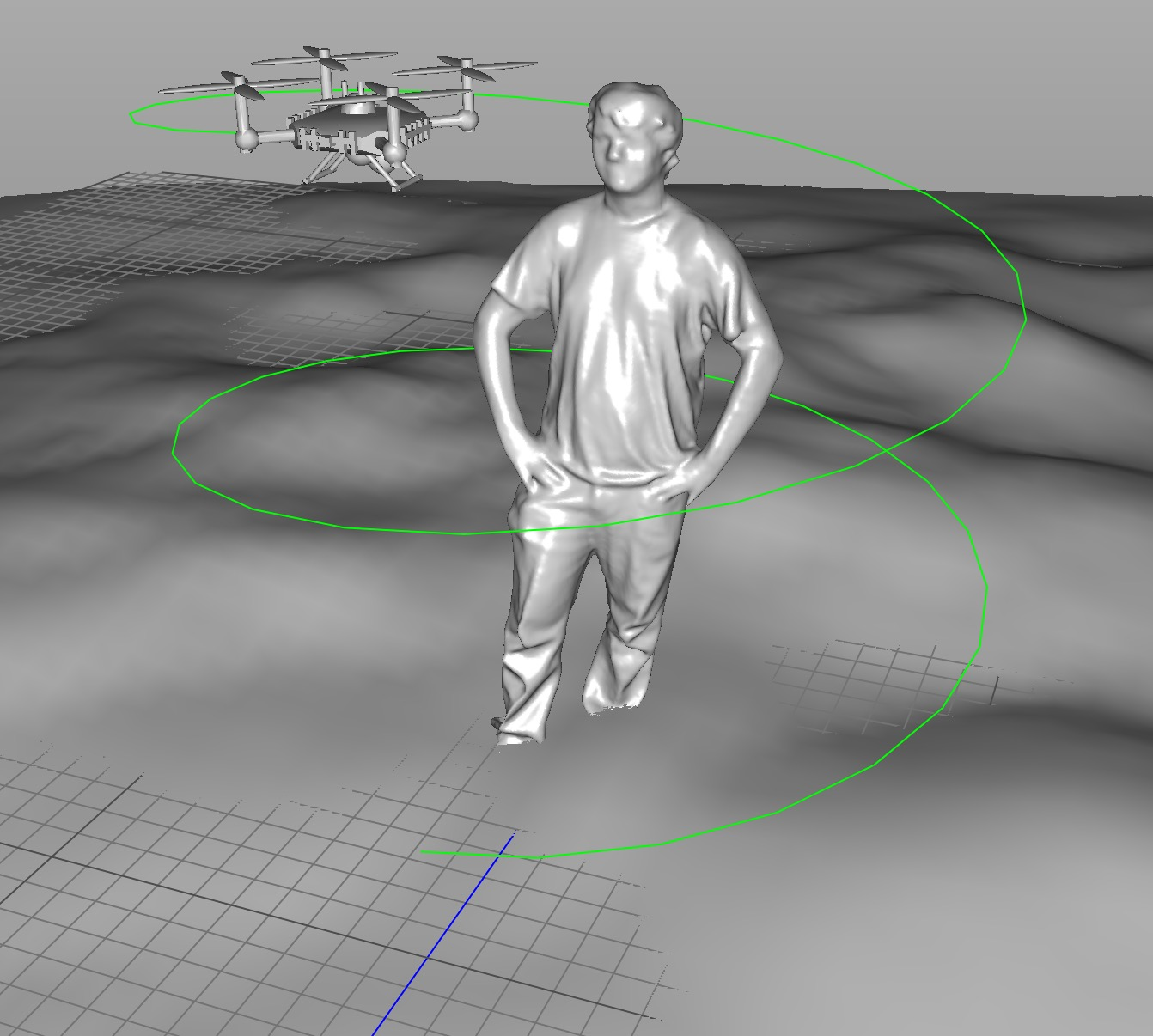 Could a drone perform a 3D scan on a human subject?